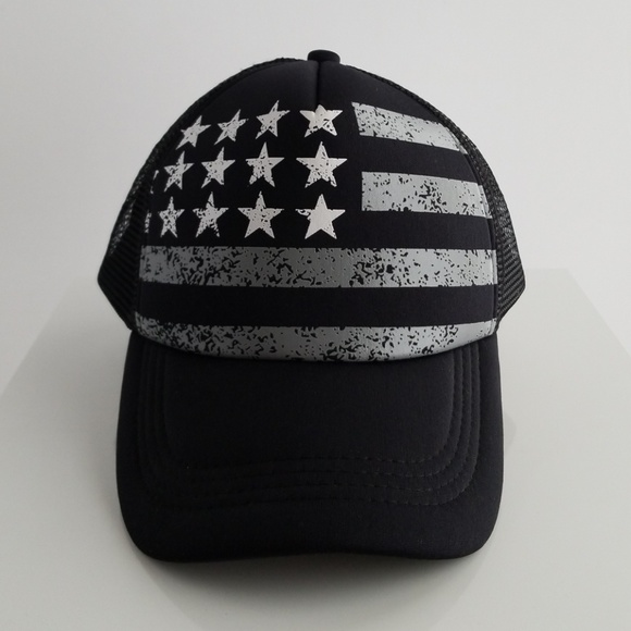 America flag trucker hat